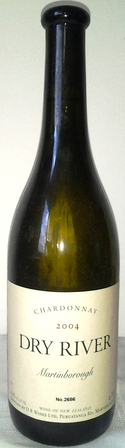 Dry River Chardonnay 2004 Martinborough, New Zealand Bottle No. 2686