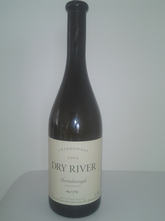 Dry River Chardonnay 2005 Martinborough Amaranth Bottle No. 1779