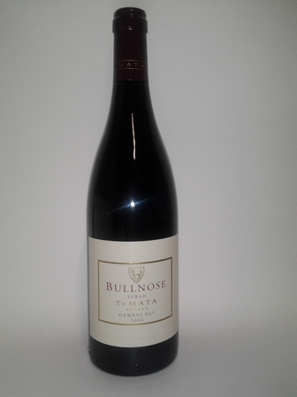 Te Mata Bullnose Syrah 2006, Hawke's Bay, New Zealand